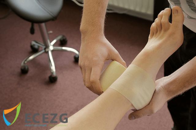 pijn in voet trekt door naar been