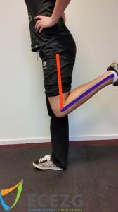 Range of Motion: Maximale flexie met denkbeeldige lijn